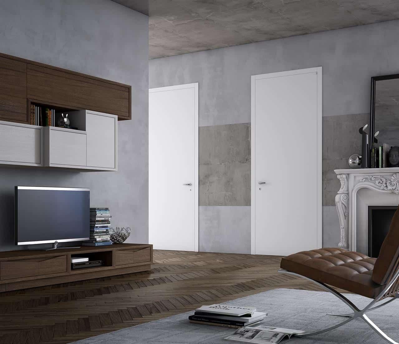 Porta laccata bianca in offerta da bartocci porte e finestre for Offerta finestre